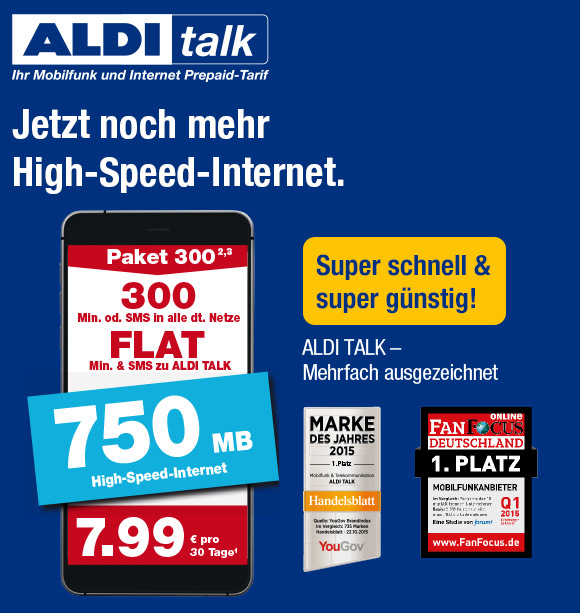 jetzt noch mehr high speed internet mit aldi talk. Black Bedroom Furniture Sets. Home Design Ideas