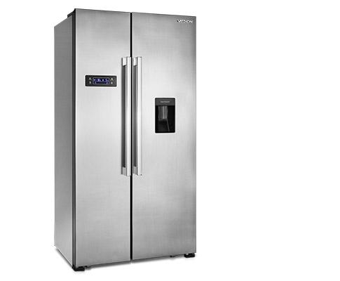 Side By Side Kühlschrank Weiss : Haier hrf im für u ac u side by side kühlschrank mit a