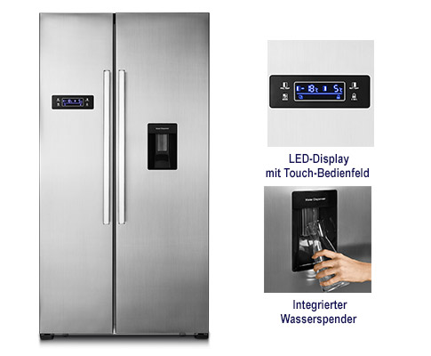 Side By Side Kühlschrank 5 Jahre Garantie : Hofer kuehlschrank juni medion md